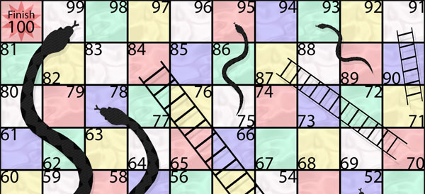 The board game Snakes and Ladders