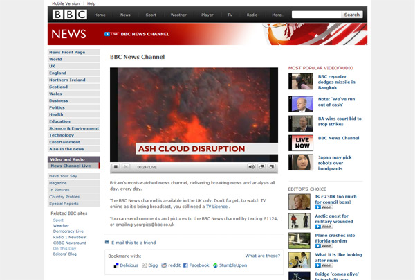 Live stream of the BBC News channel