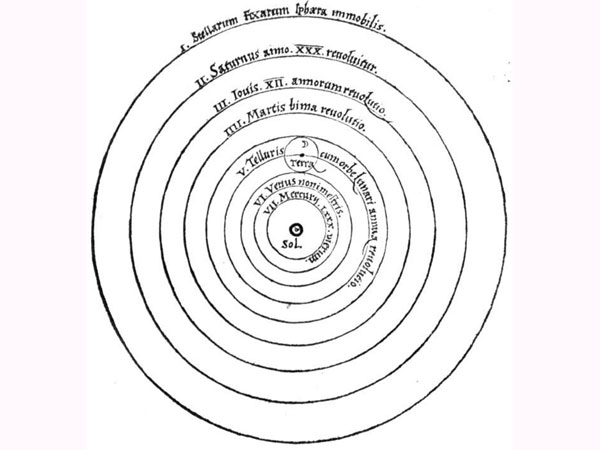 Copernicus's concept revealed the solar system as we know and understand it: not with Earth at its centre, but the Sun.